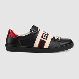 Gucci stripe leather sneaker