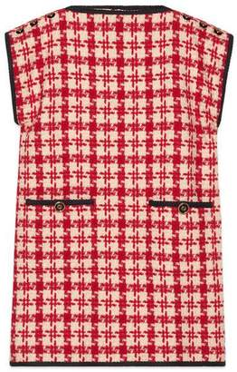 Gucci Houndstooth sleeveless dress