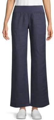 Allen Allen Wide-Leg Linen Pants