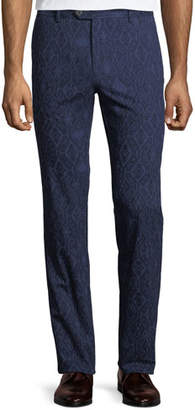 Etro Men's Carpet-Print Straight-Leg Trousers