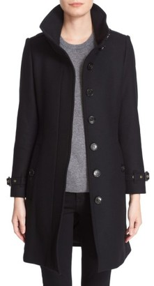 Women's Burberry Gibbsmoore Funnel Collar Trench Coat