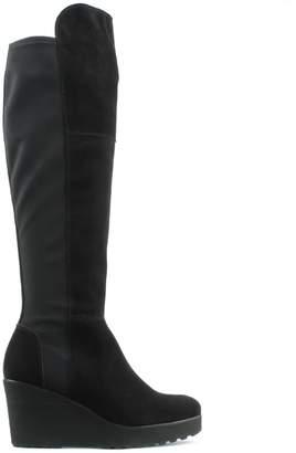 Kennel + Schmenger Kennel & Schmenger Stretch Black Suede Stretch Back Wedge Knee Boot