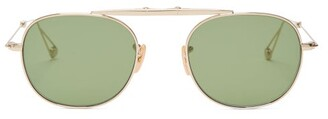 Garrett Leight Van Buren Sunglasses - Mens - Gold
