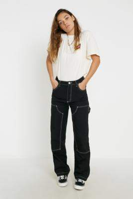 Santa Cruz UO Exclusive Carpenter Skate Trousers - black UK 6 at Urban Outfitters