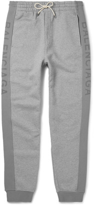 Balenciaga Slim-Fit Tapered Fleece-Back Cotton-Jersey Sweatpants $825 thestylecure.com