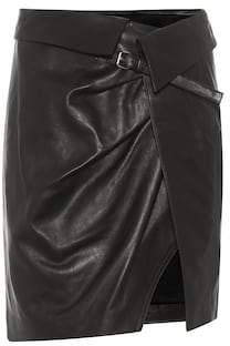 Isabel Marant Baixa leather wrap skirt