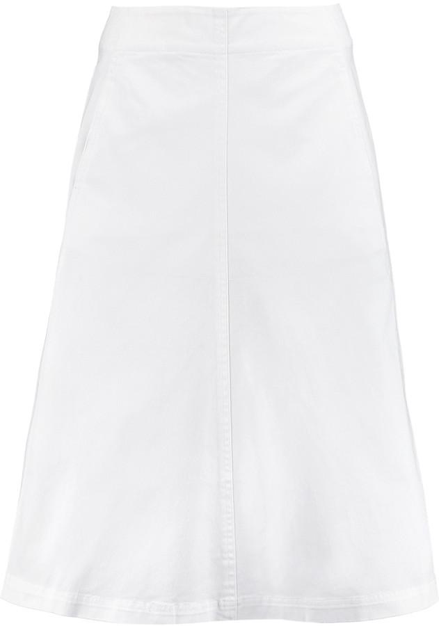 Alexander WangT by Alexander Wang Cotton-blend midi skirt