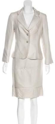 CH Carolina Herrera Linen Jacket and Skirt Set