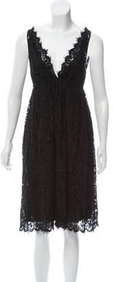 Miu Miu Guipure Lace Knee-Length Dress