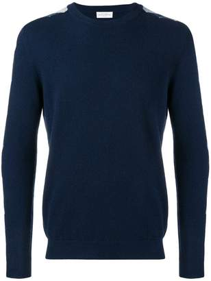 Ballantyne argyle pattern sleeve jumper