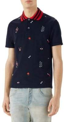 Gucci Cotton Pique Polo Shirt