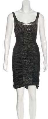 Nicole Miller Metallic Knee-Length Dress