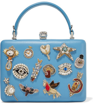 Alexander McQueen - Embellished Leather Clutch - Light blue $2,795 thestylecure.com