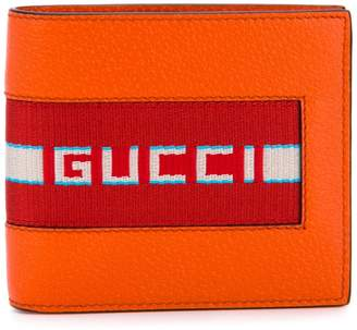 Gucci stripe bifold wallet