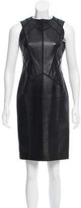 J. Mendel Sleeveless Leather Dress