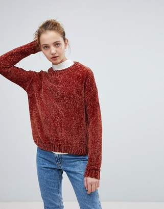 Daisy Street Relaxed Sweater In Chenille