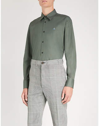 Vivienne Westwood Logo-embroidered classic-fit cotton shirt