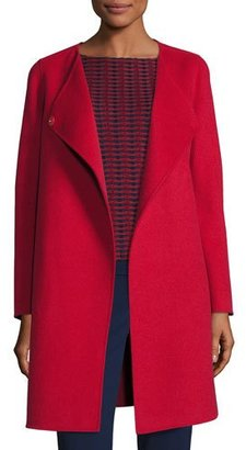 Armani Collezioni Double-Faced Wool Wrap Coat, Red $1,795 thestylecure.com
