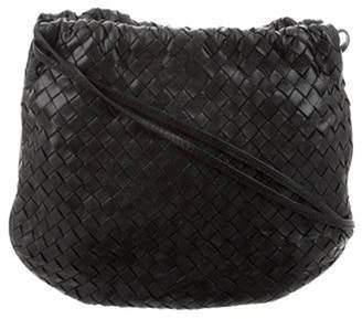 Bottega Veneta Intrecciato Drawstring Crossbody Bag Black Intrecciato Drawstring Crossbody Bag