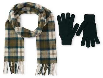 Barbour Scarf & Gloves Set