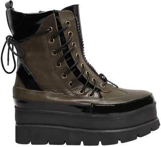 Jeffrey Campbell 40mm Andover Lace Up Leather Boots