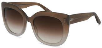 Barton Perreira Olina Gradient Chunky Cat-Eye Sunglasses, Sandstone/Smoky Topaz