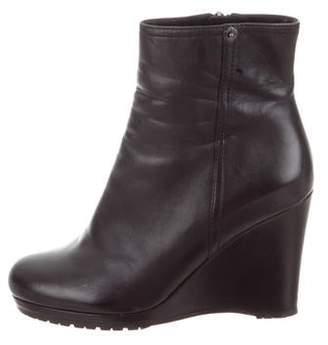 Prada Sport Leather Wedge Boots