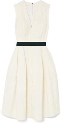a8e9d0d5746d ... Narciso Rodriguez Pleated Wool Midi Dress - Cream