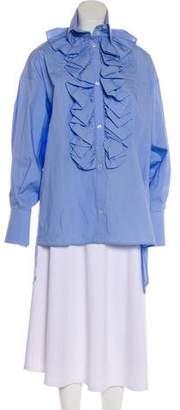 Faith Connexion Ruffled Button-Up Tunic