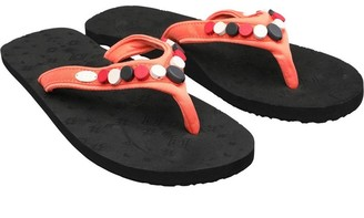 Animal Womens Sista Flip Flops Black