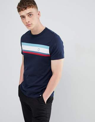 Pretty Green stripe t-shirt in navy