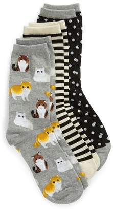 Hot Sox 3-Pack Cat Socks