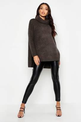 boohoo Premium Roll Neck Oversized Sweater