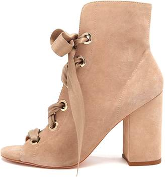 Ulla Johnson Ramona Heel in Taupe Suede