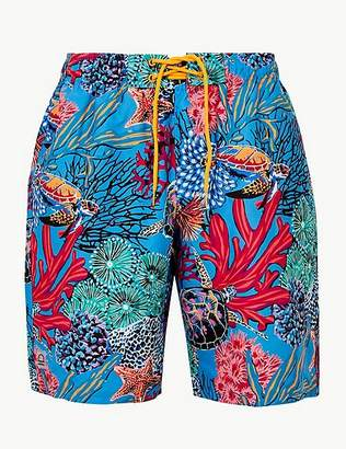 Marks and Spencer Quick Dry Turtle Print Swim Shorts