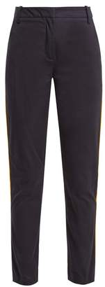 Palmer Harding Palmer//Harding Palmer//harding - High Rise Slim Leg Stretch Cotton Trousers - Womens - Navy