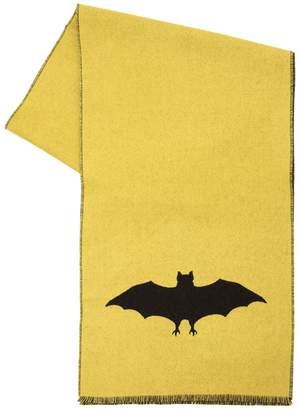 Gucci Bat Jacquard Wool Knit Scarf