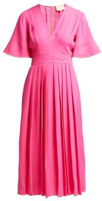 Roksanda Zandra Pleated Georgette Midi Dress - Womens - Pink