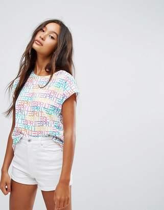Esprit All Over Slogan T-Shirt $42 thestylecure.com