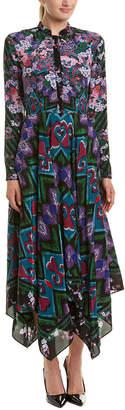Saloni London Cerise Handkerchief Dress