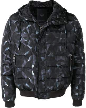 Frankie Morello geometric padded jacket