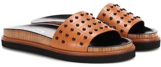 Tod's Studded leather slides