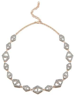 Walters Faith Keynes 18K Two Tone Diamond Signature Hexagon Choker