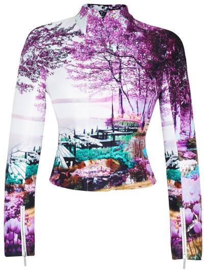 Mary Katrantzou Preorder Harbour Lilac Caramelengo Jacket