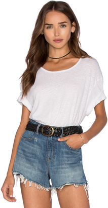 James Perse Linen Jersey Relaxed Tee $115 thestylecure.com