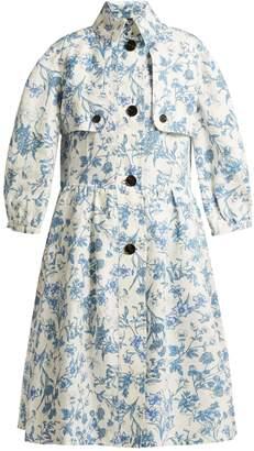 Burberry China floral-print linen coat