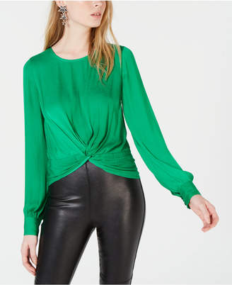 Bar III Twist-Front Blouse