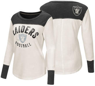 Touch by Alyssa Milano Women Oakland Raiders Thermal Long Sleeve T-Shirt