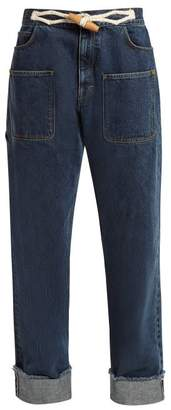 J.W.Anderson Toggle Detail Straight Leg Jeans - Womens - Denim