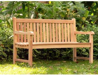 Camilla And Marc Teak Wood Park Bench Size: 150 cm, Grade: B